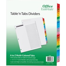 AVE11677 - Avery&reg Office Essentials Table 'n Tabs Dividers