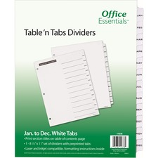AVE11678 - Avery® Office Essentials Table 'n Tabs Dividers
