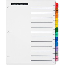 AVE11679 - Avery&reg Office Essentials Table 'n Tabs Dividers