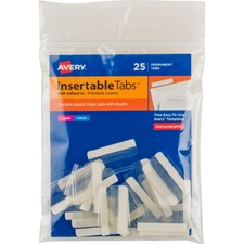 AVE 16221 Avery Self-Adhesive Printable Inserts Index Tabs  AVE16221