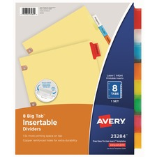 AVE 23284 Avery WorkSaver Big Tab Insertable Dividers AVE23284
