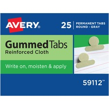 AVE 59112 Avery Gummed Round Index Tabs AVE59112