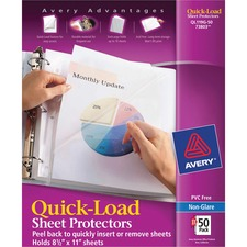 AVE 73803 Avery Quick Load Polypropylene Sheet Protectors AVE73803