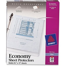 AVE 74090 Avery Top-Loading Economy Weight Sheet Protectors AVE74090