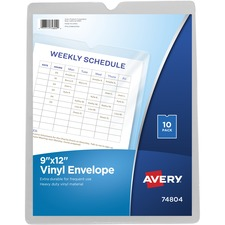 AVE 74804 Avery Top Thumb Notch Vinyl Envelopes AVE74804