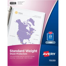 AVE 75530 Avery Standard Weight Clear Sheet Protector AVE75530