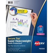 AVE76000 - Avery&reg Secure Top Sheet Protectors