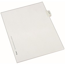 AVE 82124 Avery EXHIBIT Tab Individual Legal Dividers AVE82124