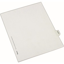 AVE82129 - Avery® Individual Legal Exhibit Dividers - Allstate Style