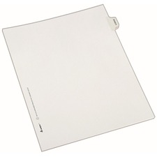 AVE82141 - Avery® Individual Legal Exhibit Dividers - Allstate Style