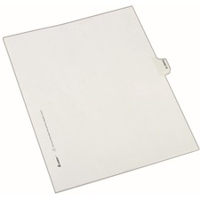 AVE 82148 Avery Numberic Side Tab Legal Exhibit Dividers AVE82148