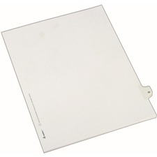AVE 82228 Avery Side-Tab Number Individual Legal Dividers AVE82228