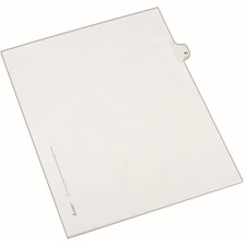 AVE82267 - Avery&reg Individual Legal Exhibit Dividers - Allstate Style