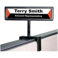 "Advantus People Pointer Cubicle Sign - 1 Each - 9"" (228.60 mm) Width x 2.50"" (63.50 mm) Height - Black"