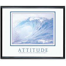"Advantus Decorative Motivational Attitude Poster - 30"" (762 mm) Width x 24"" (609.60 mm) Height - Black Frame"