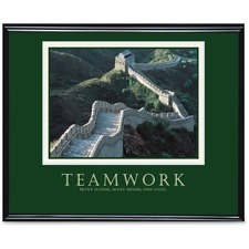 "Advantus Teamwork Motivational Poster - 30"" (762 mm) Width x 24"" (609.60 mm) Height - Black Frame"