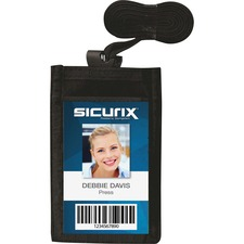 BAU55120 - SICURIX Carrying Case (Pouch) for Business Card - Vertical