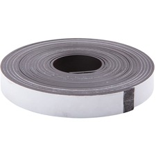 "Zeus Magnetic Tape - 0.50"" (12.7 mm) Width x 10 ft (3 m) Length - Magnet - Adhesive Backing - Flexible - 1 Roll - Black"