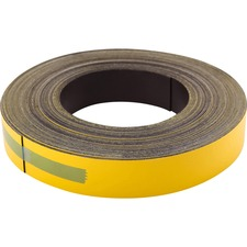 "Baumgartens Markable Magnetic Tape - 1"" (25.4 mm) Width x 16.7 yd (15.2 m) Length - Writable Surface, Reusable, Repositionable - 1 Roll - Yellow"
