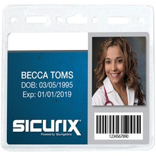 BAU 67830 Baumgartens Sicurix Standard ID Badge Holders BAU67830