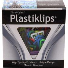 Baumgartens Assorted Colors Plastiklips - Large - 200 / Box - Assorted - Plastic
