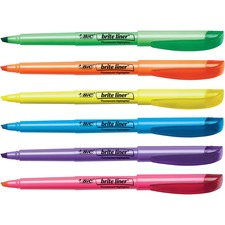 BIC BL11AST Bic Brite Liner Highlighters BICBL11AST
