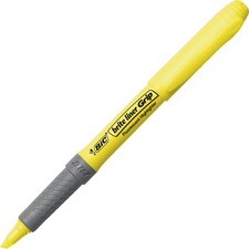 BIC Brite Liner Grip Highlighters - Chisel Marker Point Style - Yellow