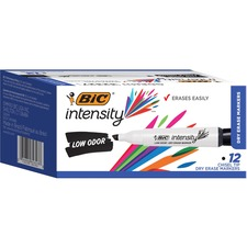 BIC GDEM11BK Bic Great Erase Grip Chisel Tip Erase Marker BICGDEM11BK