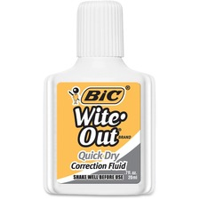BIC WOFQD12WE Bic Wite-Out Quick Dry Correction Fluid BICWOFQD12WE