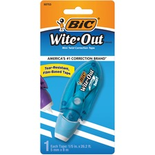 "Wite-Out Mini Correction Tape - 0.20"" (5.08 mm) Width x 26.2 ft Length - White Tape - Micro Translucent Dispenser - Compact - White"