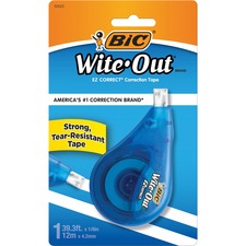 BIC WOTAPP11 Bic Wite-Out EZCorrect Correction Tape BICWOTAPP11