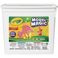 CYO 232413 Crayola Model Magic Neon Modeling Material Bucket CYO232413