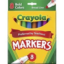 CYO 587732 Crayola Regular Bold Colors Broad Line Markers CYO587732