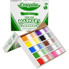 CYO 588210 Crayola Classpack Fine Line Markers CYO588210