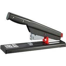 "Bostitch Antimicrobial Heavy Duty Stapler - 130 Sheets Capacity - 210 Staple Capacity - Full Strip - 1/4"" , 1/2"" , 3/8"" , 5/8"" Staple Size - Black"