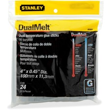 Stanley Dual Temperature Glue Sticks - 317.5 g - 24 / Pack - Clear