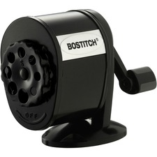 Bostitch Antimicrobial Manual Pencil Sharpener - Wall Mountable, Table Mountable - 8 Hole(s) - Metal - Black