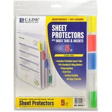 CLI 05550 C-Line Top Loading Sheet Protectors w/Tab Inserts CLI05550