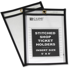 CLI 46058 C-Line Stitched Vinyl Shop Ticket Holders CLI46058