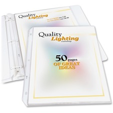 """C-Line High-Capacity Top-Loading Sheet Protectors - 50 x Sheet Capacity - For Letter 8 1/2"""" x 11"""" Sheet - Clear - Polypropylene"""