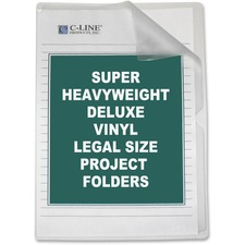 CLI 62139 C-Line Non-Glare Vinyl Project Folders CLI62139