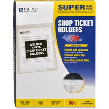 CLI 80911 C-Line Welded Vinyl Shop Ticket Holders CLI80911
