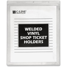 CLI 80912 C-Line Welded Vinyl Shop Ticket Holders CLI80912
