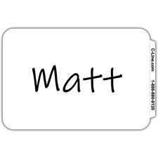 "C-Line Plain White Self-adhesive Name Badges - 3 1/2"" x 2 1/4"" Length - Removable Adhesive - Rectangle - White - 100 / Box"