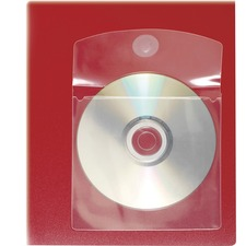 "Cardinal HOLDit! Self-Adhesive CD/DVD Disk Pockets - 5"" Height x 0.1"" Width x 5"" Length - 1 x CD/DVD Capacity - 5"" x 5"" Sheet - Ring Binder - Rectangular - Clear - Polypropylene - 10 / Pack"