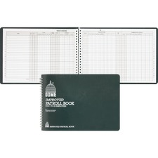 DOM 625 Dome Publishing Wirebound Payroll Book DOM625