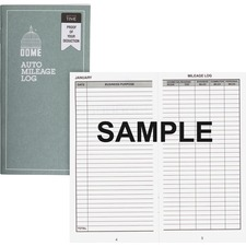 DOM 770 Dome Publishing Auto Mileage Log DOM770