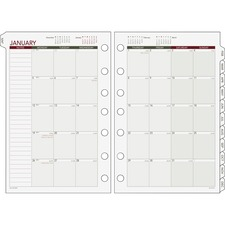 DRN 068685Y Day Runner Loose-leaf Monthly Planner Refills DRN068685Y
