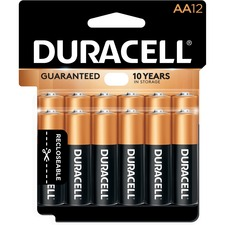 DUR MN15RT12Z Duracell CopperTop Alkaline AA Batteries DURMN15RT12Z