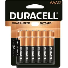 Duracell Coppertop Alkaline AAA Battery - MN2400 - For Multipurpose - AAA - 1.5 V DC - Alkaline - 12 / Pack